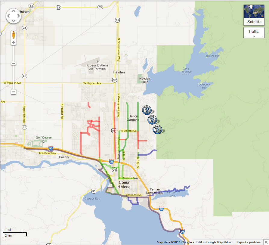 City of Coeur d'Alene - Coeur d'Alene Bike Paths Google Map Google Bicycle Map on bing maps bicycle, google austin texas, google view my house, google android, sketchup bicycle, google employee on a bicycle, google bikes on campus,