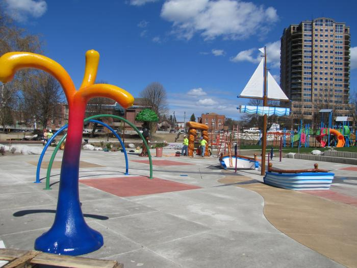 City Of Coeur D Alene Mceuen Park Splash Pad Pieces In Place