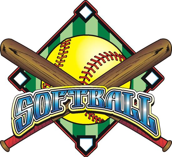 Softball game clipart